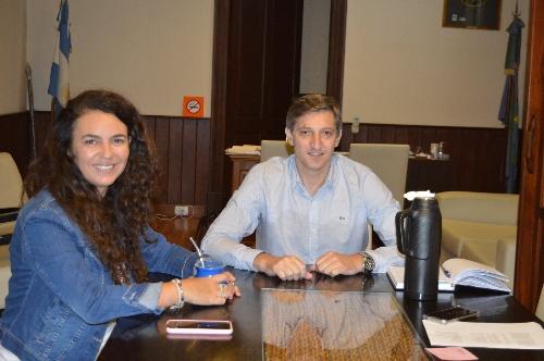 El intendente Notararigo recibió a la diputada Merquel