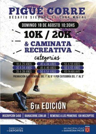 Atletismo - Pigüé Corre se desarrollará el 18 de agosto.