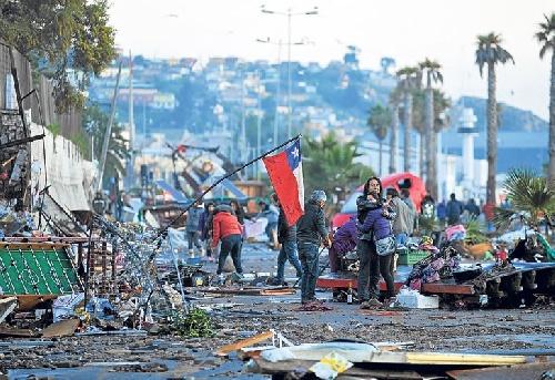 Aún buscan cinco desaparecidos por el sismo en Chile, que sigue temblando