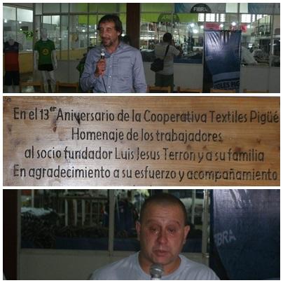 13º aniversario de la Cooperativa Textiles Pigüé