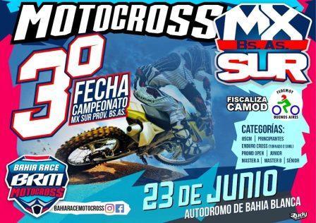 Motocross - Se viene la 3ra fecha del Campeonato del Sur en Bahía Blanca.
