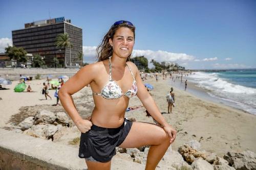 Macarena la heroína argentina que salvó a un niño de morir ahogado en el Mar Mediterraneo