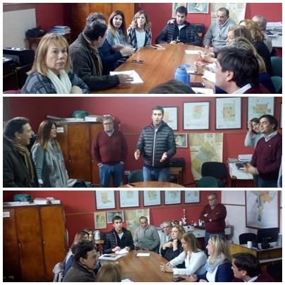 El pte de la legislatura bonaerense Manuel Mosca y diputados de Cambiemos en Pigüé