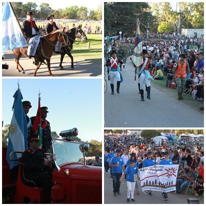 Imágenes del desfile cívico militar del 135º Aniversario de Pigüé