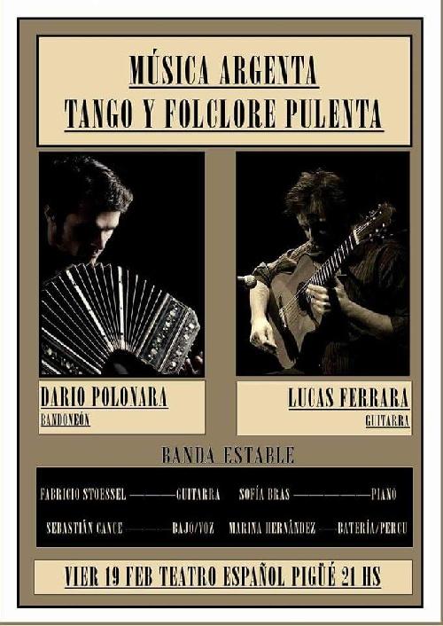 Pigue: Show de tango y folclore en Teatro Español