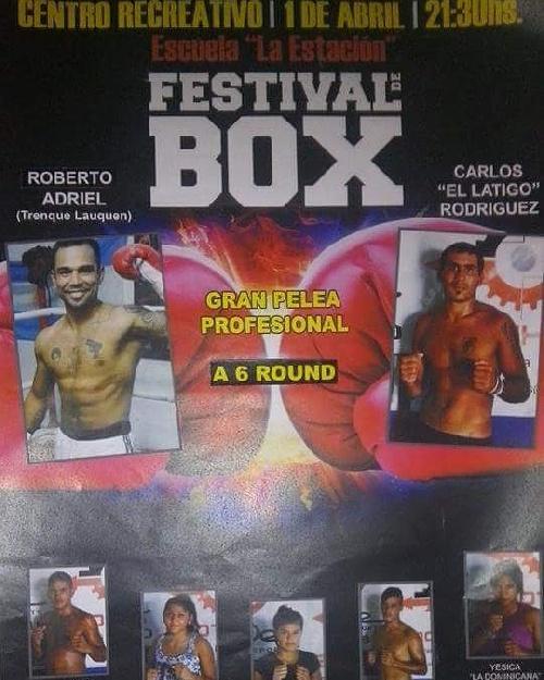 Roberto Adriel peleará el 1° de Abril en pelea de Fondo en Olavarría.