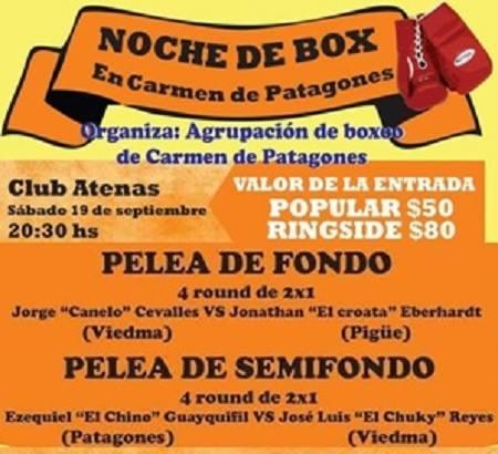 Boxeo - Presencia de El Croata Everhardt el próximo sábado en Patagones.