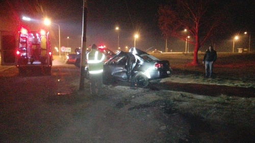 Pigüé: Accidente con heridos graves en rotonda RP 67