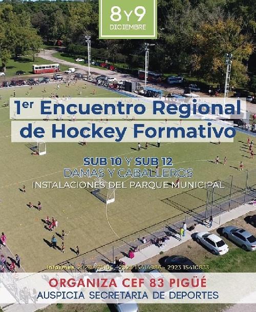 Hockey - Encuentro Regional Formativo en la cancha sintética local.