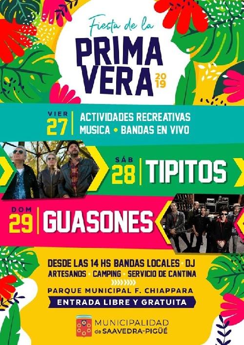 Toda la musica de Los Tipitos y Guasones para  la Fiesta de la Primavera 2019 en Pigüé