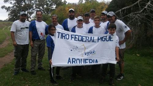 Clasificacion de los representantes del Tiro Federal Pigüé en la competencia de arquería disputado en 9 de Julio