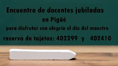 Encuentro de docentes jubiladas para festejar el dia del maestro en Pigüé