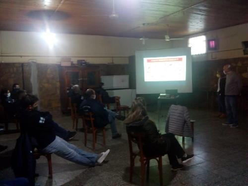 Capacitación para la pandemia en Dufaur y Colonia San Martín