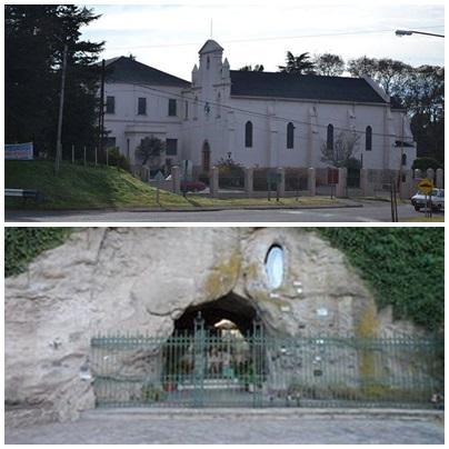 Misa por la Virgen de Lourdes en la gruta del Instituto Niño Jesus