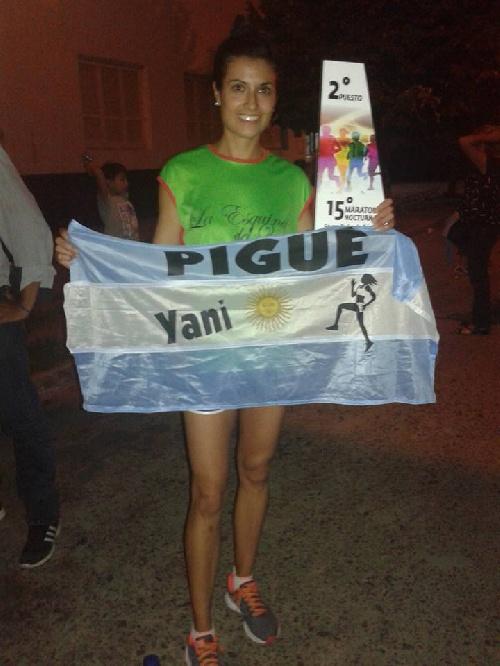 Excelente segundo lugar de la pigüense Yanina Clair en la Maratón de Pehuajó.