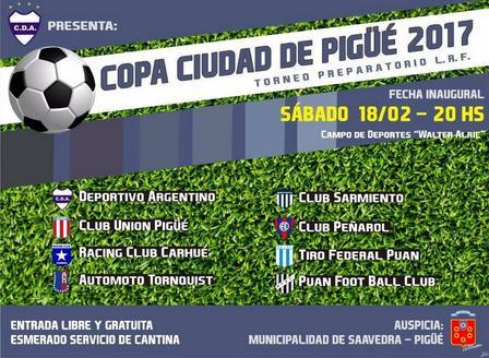 Triunfo de Peñarol sobre Sarmiento en la Copa Ciudad de Pigüé.