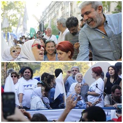 """""""Me cago en los buenos...Basta de ser democráticos...Macri es un dictador...Vidal es una asesina"""" , Hebe Bonafini en el acto del 24"""