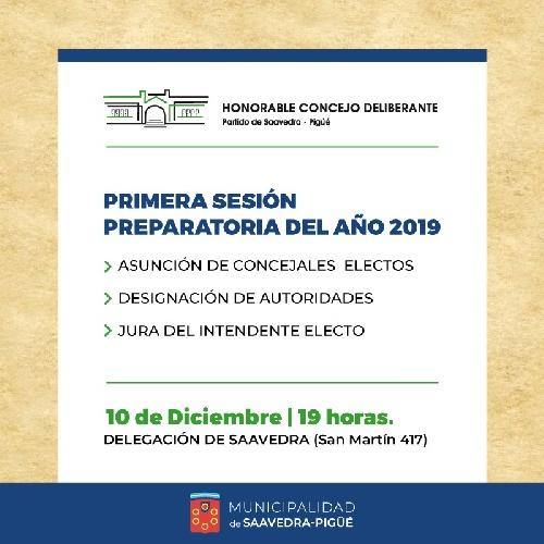 El intendente y los concejales electos asumirán el próximo dia martes en Saavedra