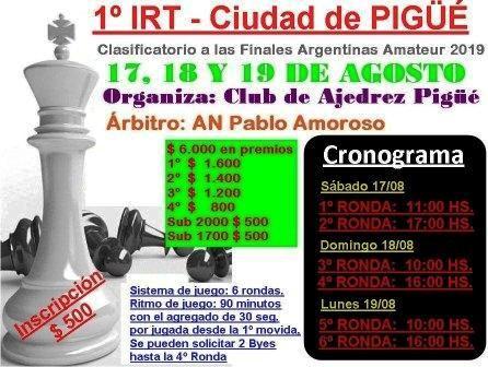 Ajedrez - El club local organiza torneo IRT.