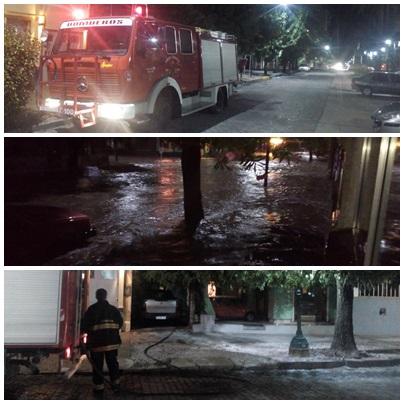 Torrencial tormenta de agua y granizo en Pigüé