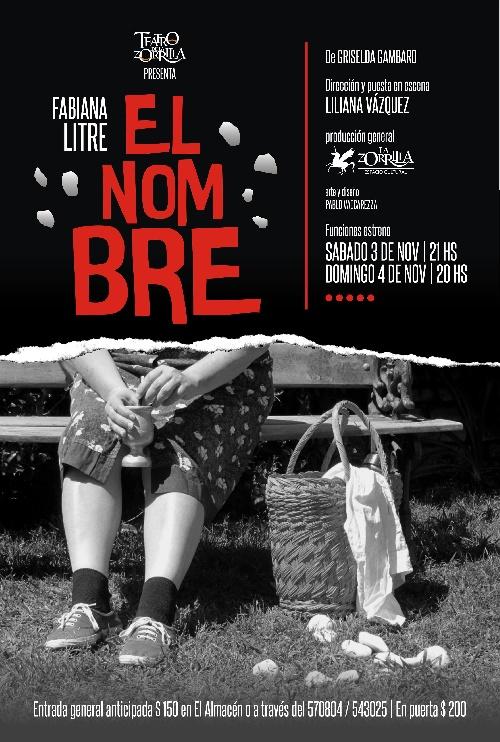 """Teatro La Zorrillla estrena  obra  """"EL NOMBRE"""""""
