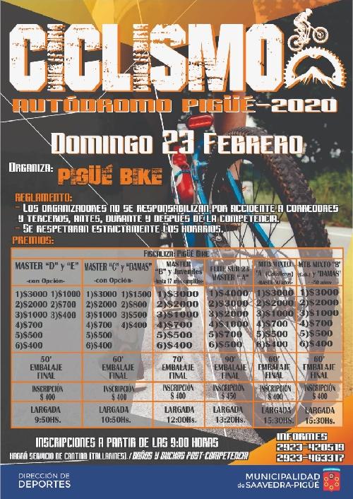 Ciclismo en el Autódromo de la Ciudad organizado por Pigüé Bike
