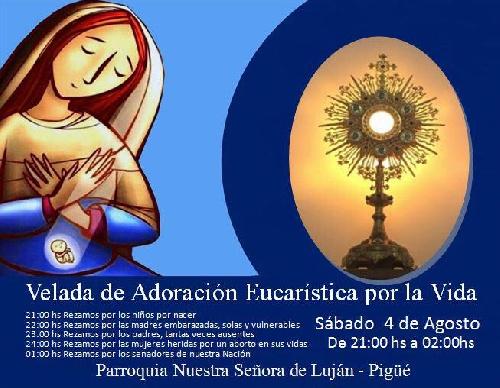 Pigüé: Jornada de Oración en defensa de la vida desde la concepción