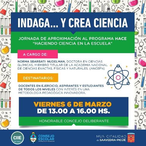 Inscripción para la Jornada de aproximación al programa Haciendo Ciencia en la Escuela (HACE)