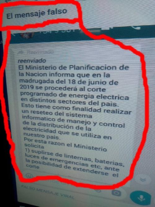 NO HUBO NINGUN CORTE DE ENERGIA PROGRAMADO FUE UNA NOTICIA FALSA DE LAS REDES SOCIALES