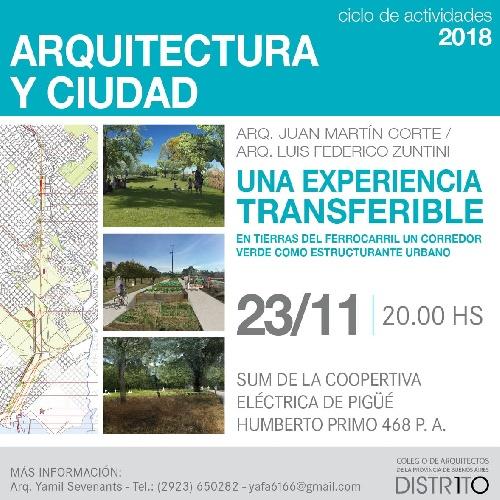 Conferencia sobre arquitectura y ciudad