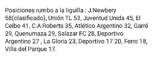 Liga Cultural Tres Lomas - Triunfo de El Ceibo y clasificación para la Liguilla - Lavernhe bajo los tres palos y Cabral ausente.