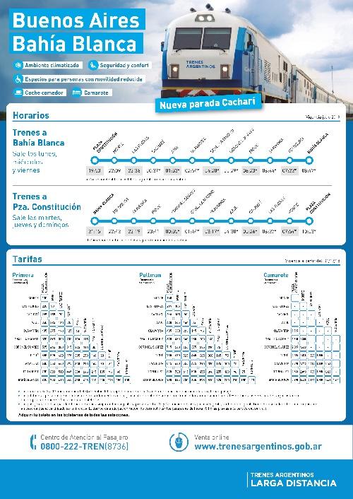 Tren Buenos Aires - Bahia Blanca -  Estación Pigüé, frecuencias, horarios, tarifas y pasajes on line