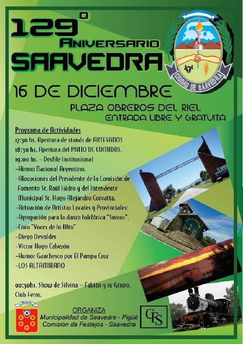 Centésimo vigésimo noveno aniversario de Saavedra