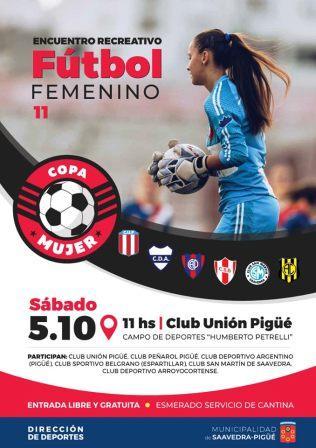 Fútbol Femenino - Unión Pigüé organiza torneo para el primer fin de semana de octubre.