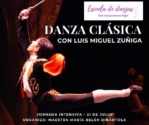 Jornada de Danza Clasica en Club independiente con el bailarín profesor Zuñiga